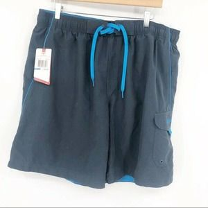 Speedo Gray and Blue Swimming Trunks Vacation